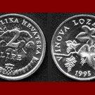 CROATIA 1995 2 LIPE COIN KM#4 ~ AU ~ Europe - Grapes & Vine ~ VERY BEAUTIFUL COIN!
