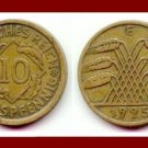 Weimar Republic GERMANY 1925(E) 10 REICHSPFENNIG COIN KM#40 Europe