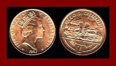 ISLE OF MAN 1991(AA) 1 PENNY BRONZE COIN KM#207 Europe - Precision Lathe Tools ~ BEAUTIFUL!