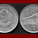 ROMANIA - TRANSYLVANIA 1966 1 LEU COIN KM#95 Europe - Romanian & Tractor ~ BEAUTIFUL!