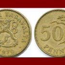 FINLAND 1970 50 PENNIA COIN KM#48 Europe - Crowned Lion ~ BEAUTIFUL!