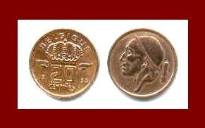 BELGIUM 1953 20 CENTIMES (NOT touching the rim) BRONZE COIN KM#146 Europe - BELGIQUE French Legend
