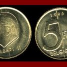 BELGIUM 1996 5 FRANCS COIN KM#189 Europe - BELGIQUE French Legend - LOW MINTAGE! ~ BEAUTIFUL!