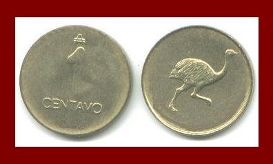 ARGENTINA 1985 or 1986 1 CENTAVO BRASS COIN KM#71.1 South America