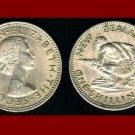 NEW ZEALAND 1964 1 SHILLING COIN KM#9a Oceania ~ Queen Elizabeth II ~ Maori Warrior & Spear