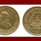 SOUTH AFRICA 1962 1/2 HALF CENT BRASS COIN KM#56 SUID TRIBAL LEGEND Sparrows ~ Jan van Riebeeck