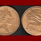 AUSTRALIA 1993 1 DOLLAR COIN KM#66 LANDCARE - XF - BEAUTIFUL!