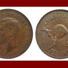 AUSTRALIA 1941(p) 1 PENNY BRONZE COIN KM#36 Oceania Kangaroo ~ WWII Coin