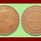 AUSTRALIA 1928(m) 1 PENNY BRONZE COIN KM#23 Oceania COMMONWEALTH
