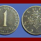 AUSTRIA 1972 1 SCHILLING COIN KM#2886 Europe - Edelweiss Flowers