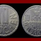 AUSTRIA 1959 10 GROSCHEN COIN KM#2878 Scalloped on Rim