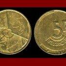 BELGIUM 1987 5 FRANCS COIN KM#163 Europe - BELGIQUE French Legend
