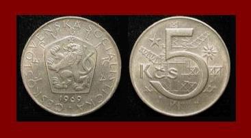 CZECHOSLOVAKIA 1969 5 KORUN KCS COIN KM#60 Europe Wrecking Crane & Ball