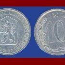 CZECHOSLOVAKIA 1967 10 HALERU COIN KM#49.1 Europe