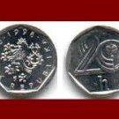 CZECH REPUBLIC 1993 20 HALERU COIN KM#2 Crowned Lion - XF - BEAUTIFUL!