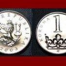 CZECH REPUBLIC 2003 1 KORUNA KC COIN KM#7 Europe Crowned Lion - XF - BEAUTIFUL!