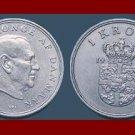 DENMARK 1962 1 KRONE COIN KM#851.1 King Frederik IX
