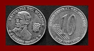 ECUADOR 2000 10 CENTAVOS COIN KM#106 Eugenio Espejo - BEAUTIFUL!