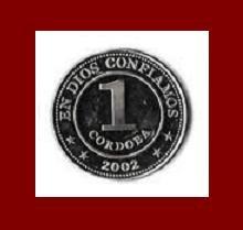 NICARAGUA 2002 1 CORDOBA COIN KM#89.a Central America - BEAUTIFUL!