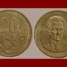 GREECE 1992 20 DRACHMES COIN KM#154 Greek Composer Dionysus Solomos ~ BEAUTIFUL!