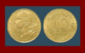 FRANCE 1979 10 CENTIMES COIN KM#929