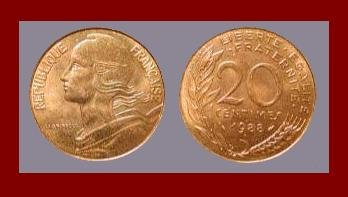 FRANCE 1988 20 CENTIMES COIN KM#930 Europe ~ BEAUTIFUL!