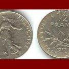 FRANCE 1977 1/2 (HALF) FRANC COIN KM#931.1 ~ BEAUTIFUL!