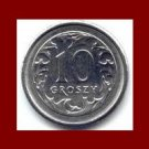 POLAND 1990 10 GROSZY COIN Y#279 Crowned White Eagle ~ BEAUTIFUL!