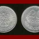 POLAND 1973 20 GROSZY COIN Y#279 Communist Coin - Crowned White Eagle