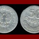 POLAND 1949 50 GROSZY COIN Y#44a Europe - Communist Coin - White Eagle ~ SCARCE!