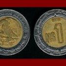 MEXICO 1992 1 NEW PESO BIMETALLIC COIN KM#550 Central America ~ BEAUTIFUL!