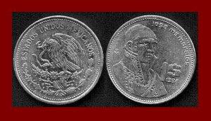 MEXICO 1984 1 PESO STEEL COIN KM#496 Central America ~ Jose Morelos y Pavon ~ BEAUTIFUL!