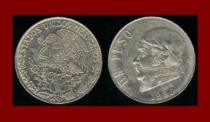 MEXICO 1981 1 PESO COIN KM#460 Central America ~ Jose Morelos y Pavon