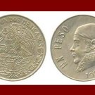 MEXICO 1975 1 PESO COIN KM#460 Central America ~ Jose Morelos y Pavon