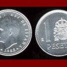 SPAIN 1988 1 PESETA COIN KM#821 Y140.1 KING JUAN CARLOS I ~ BU ~ BEAUTIFUL!