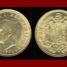 SPAIN 1975(80) 1 PESETA COIN KM#806 ~ King Carlos I ~ BEAUTIFUL!