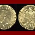 SPAIN 1975(78) 1 PESETA COIN KM#806 ~ King Carlos I ~ BEAUTIFUL!