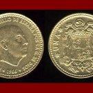 SPAIN 1966(69) 1 PESETA COIN KM#796 ~ Francisco Franco ~ BEAUTIFUL!