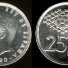 SPAIN 1982 25 PESETAS PTAS COIN KM#824 Y129a KING JUAN CARLOS I