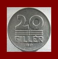HUNGARY 1968 20 FILLER COIN KM#573 ~ 3 Wheat Stalks