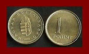 HUNGARY 2004 1 FORINT BRASS COIN KM#692 ~ BEAUTIFUL!