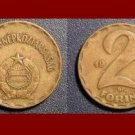 HUNGARY 1978 2 FORINT BRASS COIN KM#591