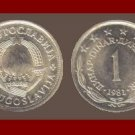 YUGOSLAVIA 1981 1 DINAR COPPER NICKEL ZINC COIN KM#59 - 6 STARS - COMMUNIST COIN