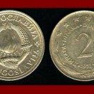 YUGOSLAVIA 1972 2 DINARA COPPER NICKEL ZINC COIN KM#57 COMMUNIST COIN