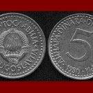 YUGOSLAVIA 1980 5 DINARA COPPER NICKEL ZINC COIN KM#58 - 6 STARS - COMMUNIST COIN