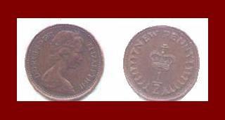 England United Kingdom Great Britain UK 1971 1/2 HALF NEW PENNY BRONZE COIN KM#914
