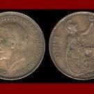 England United Kingdom Great Britain UK 1936 1 ONE PENNY BRONZE COIN KM#838 Warrior Queen Britannia