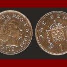 England United Kingdom Great Britain UK 1999 1 ONE PENNY COIN KM#986 Rank-Broadley Effigy BEAUTIFUL!