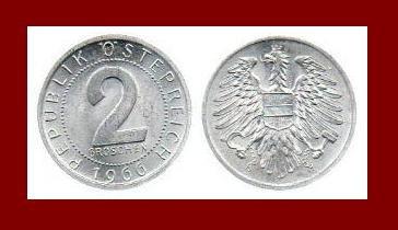 AUSTRIA 1966 2 GROSCHEN COIN KM#2876 - Europe