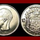 BELGIUM 1971 10 FRANCS COIN 27mm KM#155.1 Europe - BELGIQUE French Legend ~ XF BEAUTIFUL!